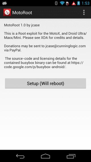 How to Root Verizon Motorola DROID MAXX, Ultra and Mini screenshot