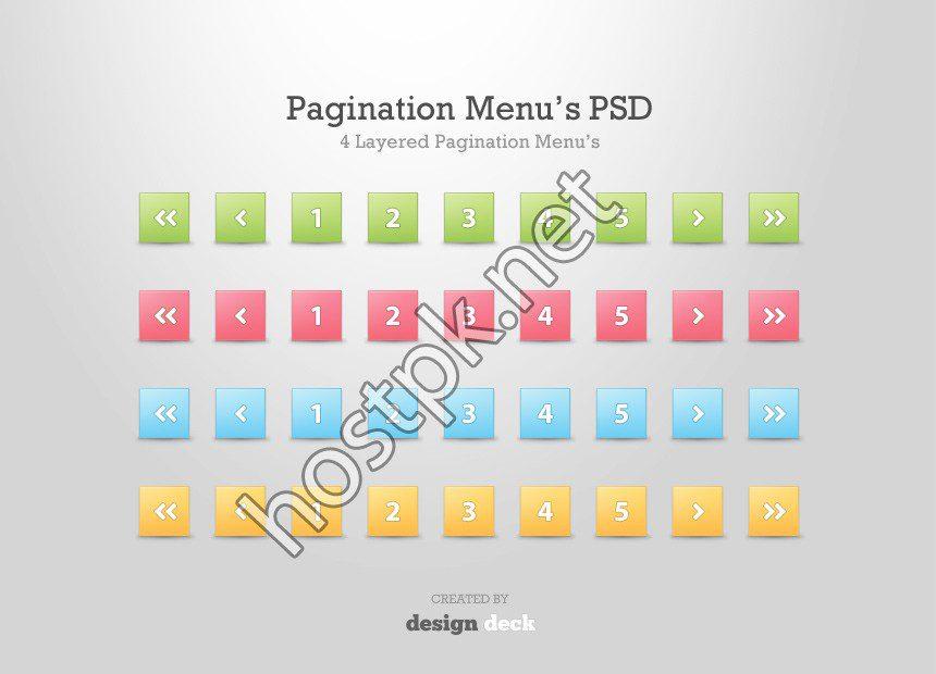 Pagination Menus PSD Template