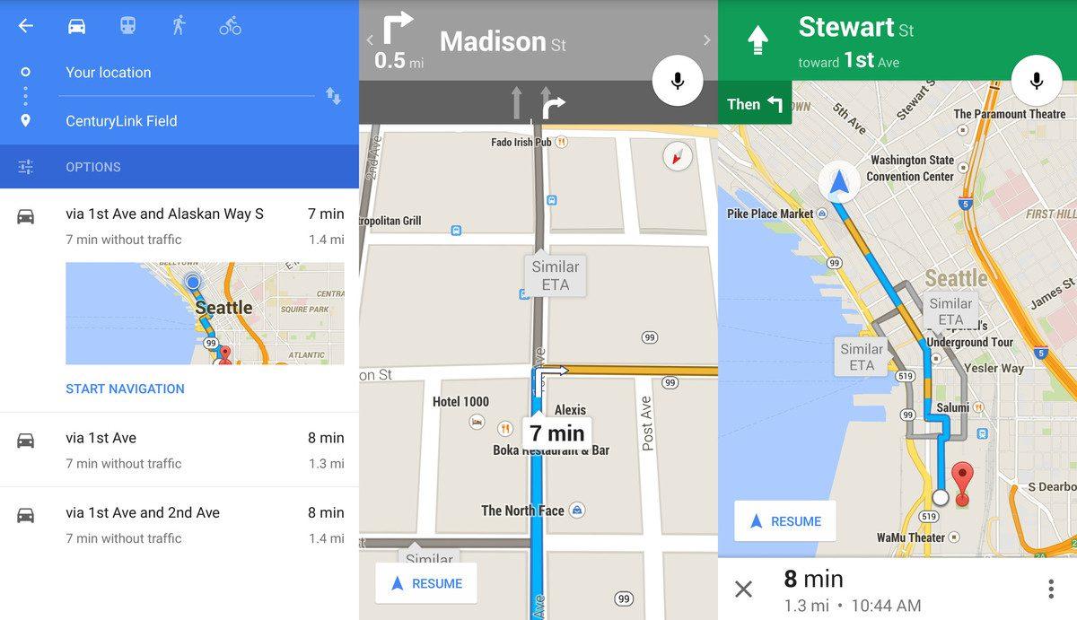 google-maps-navigation-car-screens