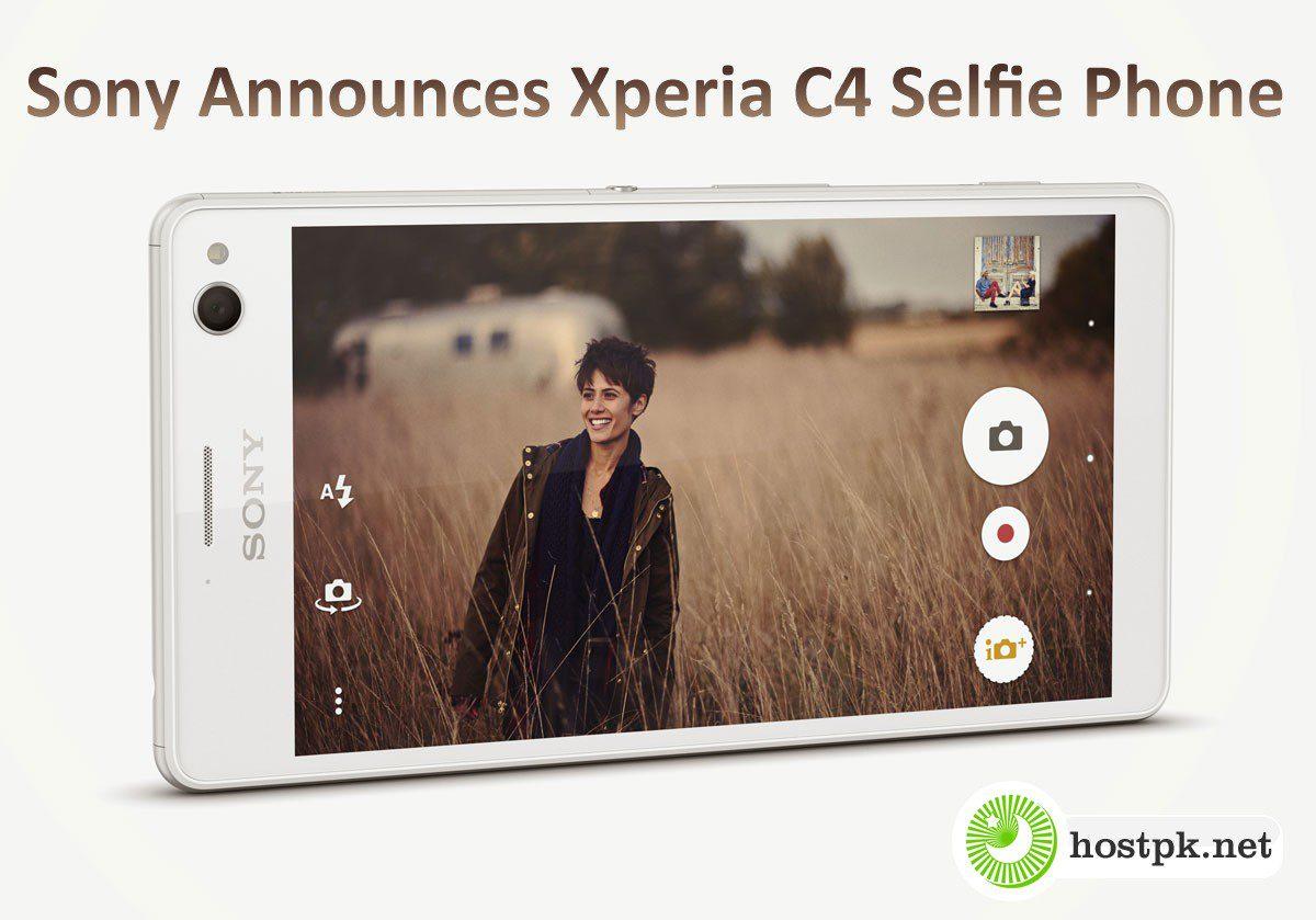 Sony Announces Xperia C4 Selfie Phone