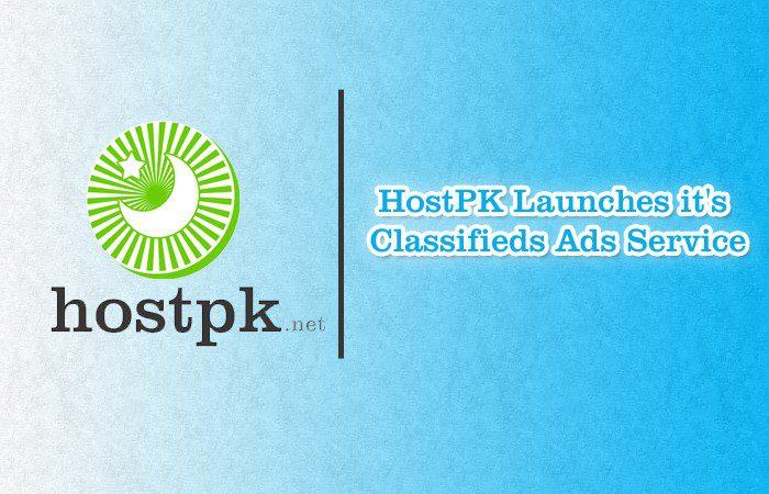 HostPK Launches it's Classifieds Ads Service