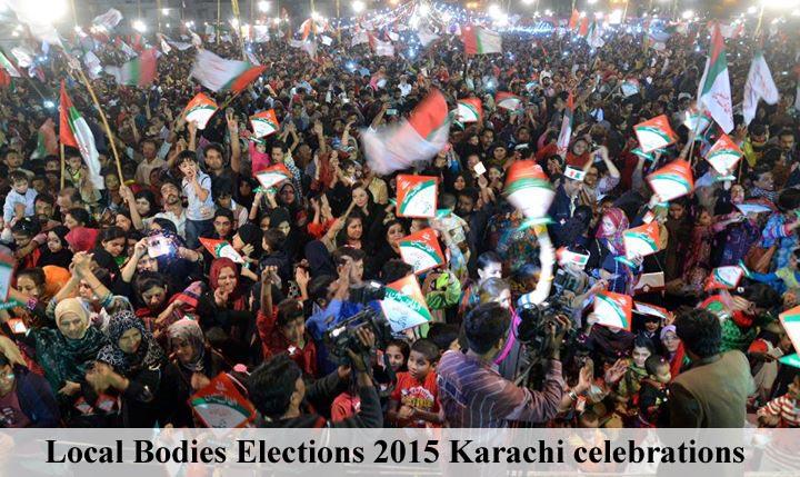 Local Bodies Elections 2015 Karachi celebrations