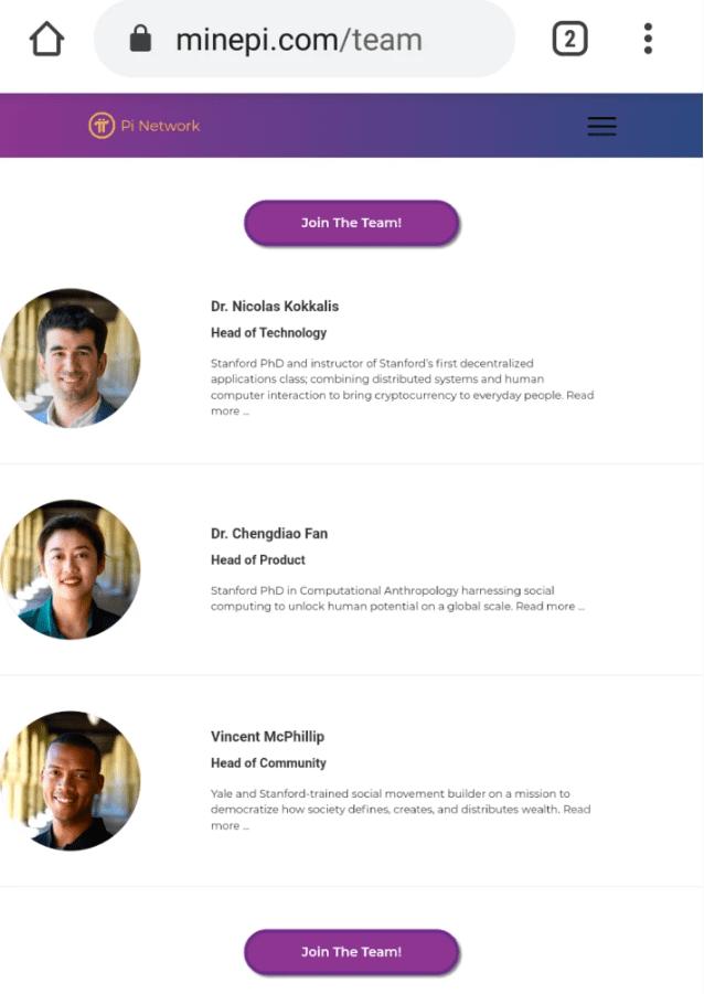 team pi network